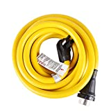 50 AMP 30FT RV Extension Cord for Outdoor use(Truck/Trailer/Motorhome/Camper) with Power Grip Plug and Twist Lock Receptacle