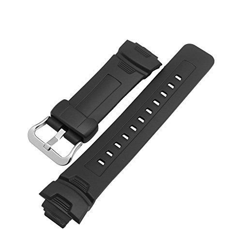 Meijunter Black Resin Watch Band Strap for Casio