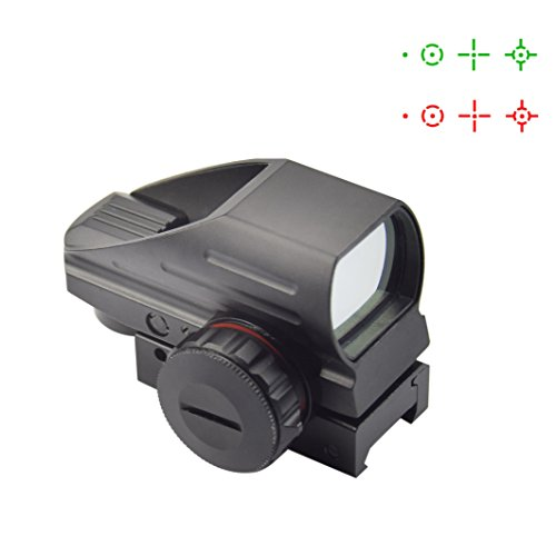 Fyland Red/Green Reflex Sight Gun Sight Scope with 4 reticles, 1x 33 - Gun Reflex
