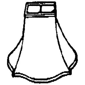 Royal Designs Fancy Square Bell Lamp Shade, Black, 5 x 12 x 9.75