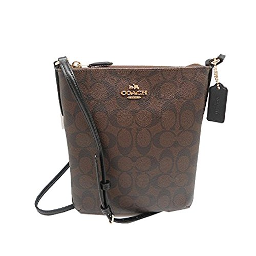 Coach North South Crossbody Purse in Signature Handbag