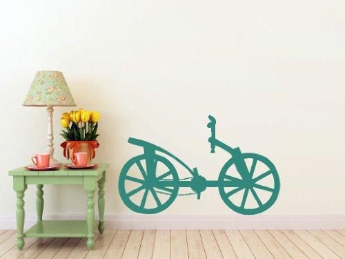 Bicycle Vinci Da - Da Vinci Bicycle- Wall Decal (Teal - Matte, Measures: 30