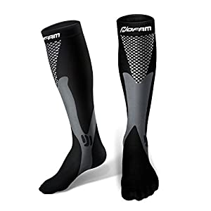 Compression Socks for Men and Women Graduated Athletic Sport Socks for Running, Biking, Hockey, Baseball, Flight Travel, Nurse, Maternity Pregnancy-1 Pair (L/XL)