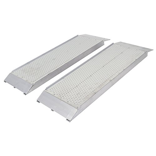 Guardian Aluminum Dual Runner Shed Ramps with Punch Plate Surface - 48