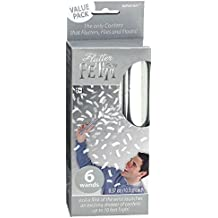 """Fun-Filled Flutter Fetti Wands Party Supplies, Silver, Paper, 6"""", Pack of 6"""