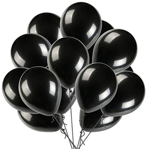 12 Black Balloon Latex Helium Balloons Pearl Balloon for Wedding Birthday Party Festival Christmas Decorations 100 ct 0.077oz