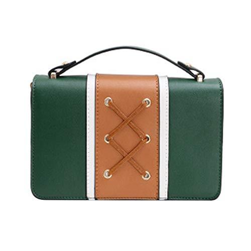 mezza Contrasto Verde Il di delle elaborazione chain estate della donne di disegno spalla Borse Crossbody Republe ragazza borse merletto di colore dell'unità 1zqSdS
