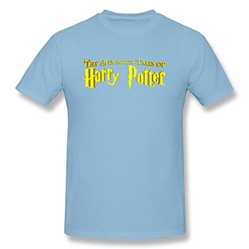 JUJ Harry Potter Logo Men's Short Sleeve Tshirt SkyBlue XX-Large