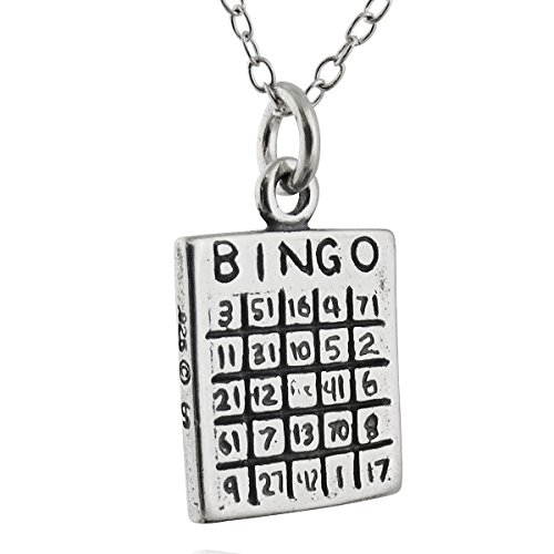 o Card Charm Necklace, 18