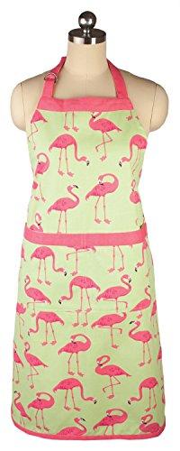 MUkitchen 6012-1862 Cotton Chef Apron, Flock Of Flamingos ()