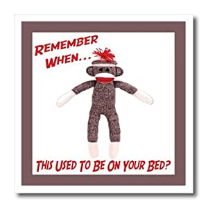 ht_13474_1 Susan Brown Designs Retro Themes - Sock Monkey - Iron on Heat Transfers - 8x8 Iron on Heat Transfer for White Material