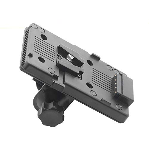 Runshuangyu V-Mount BP Battery-Powered Plate Adapter with D-Tap & Clamp for Sony DSLR Camera LCD Monitor