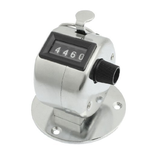 Round Hinged Base (Dcolor Round Base 4 Digit Manual Hand Tally Mechanical Palm Click Counter)