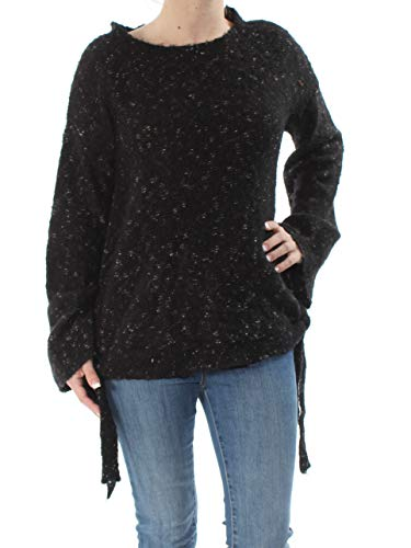 Max Studio Womens Wool Blend Winter Pullover Sweater Black S
