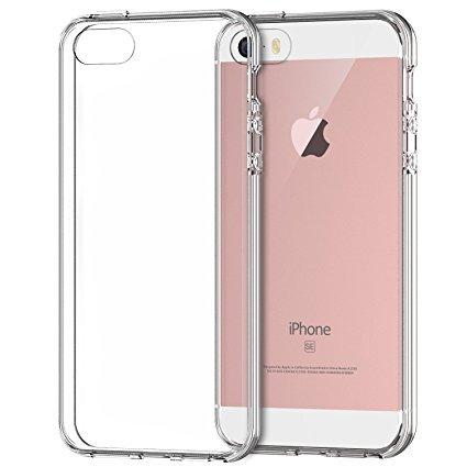 Crystal Clear pour iPhone se/5S/5étui de protection rigide liecht Crystal Clear plastique Etui de protection Coque transparent Iphone 5Transparent Transparent Ultra Thin Slim Housse Case Cover iPhon