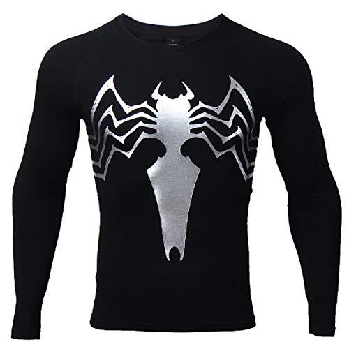 COOLMAX Spider Compression Shirt 3D Print T-Shirt Men Gym Tight Tops