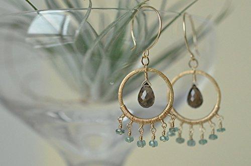 Smoky Quartz Chandelier Earrings - 8