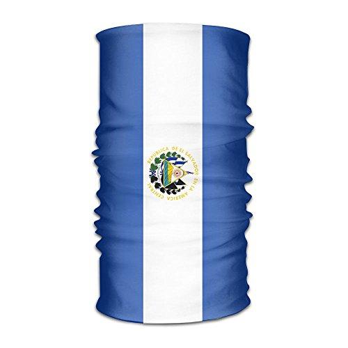 OHMYCOLOR Striped Flag Of El Salvador Headwrap Men Women Headwear Headband Neck Scarf Quick Dry Do Rag Cap Magic Head Scarf Bandana Unique Headdress Face Mask Neck Gaiter ()