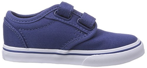 Vans ATWOOD V Unisex-Kinder Sneakers Blau ((Canvas) stv na F9N)