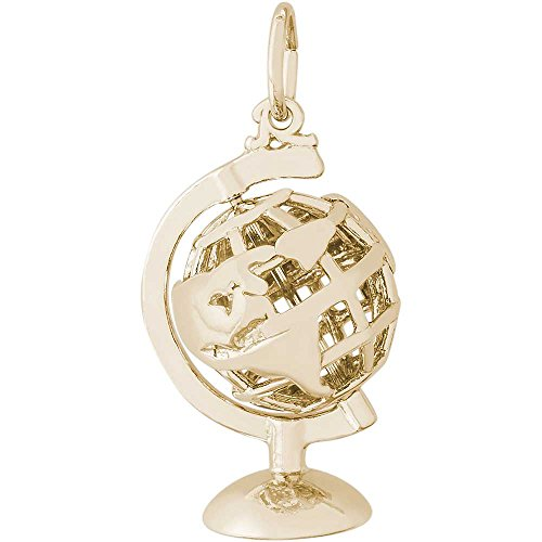 Rembrandt Charms Globe Charm, 14K Yellow Gold