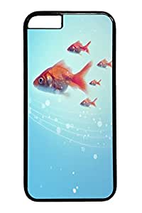 Five fish PC Case Cover for iphone 6 plus 5.5inch black