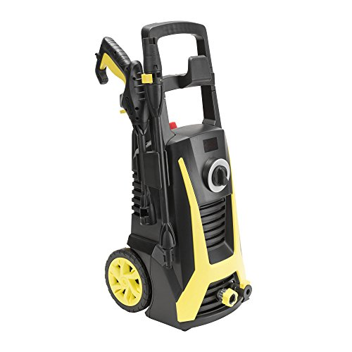 Realm BY02-VBP-WTH 2000 PSI 1.60 GPM 13 AMP Electric Pressure Washer with Spray Gun, Wand,19ft Hose, Built-in Detergent Bottle,Adj.Nozzle&Detergent Spray Nozzle