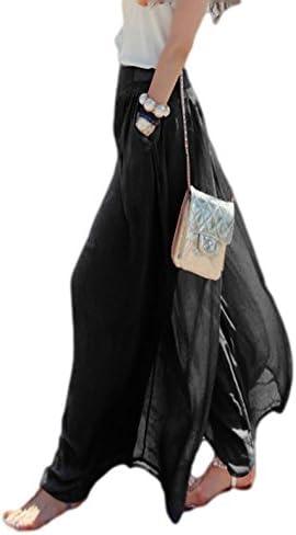 (エムドラゴン) ロング ガウチョ パンツ + ミニタオル セット/ワイド パンツ ウェストゴム スカンツ/ヨガ ダンス [MG4-01-037]