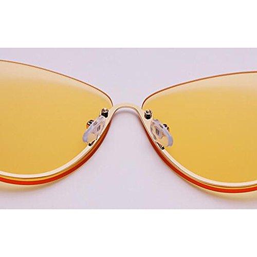 Vintage Gafas de mujer Gold de Transparente Nueva conducción colores de de estrella sol al Personalidad Opcional Gafas Protección libre sol aire 4 sol excursionista Protección UV400 UV para Pink Frame de Regalo Gafas rOqxPrwA4