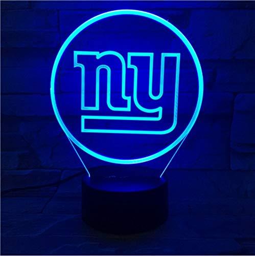 KLSOO New York Giants Night Lamp Bedroom USB Touch Children Kids Gift Team Logo Led Night Light American Football -