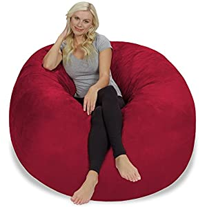 Chill Sack Bean Bag Chair: Giant 5' Memory Foam Furniture Bean Bag - Big Sofa with Soft Micro Fiber Cover - Cinnabar