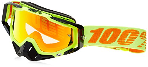100% Racecraft Attack Yellow Men's Off-Road/Dirt Bike Motorcycle Goggles Eyewear - Clear/One Size