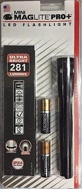 Silver Mag Lite Maglight 245 Lumens MAGLITE PRO PLUS LED 2 Cell AA Flashlight