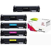 [Patrocinado] Reemplazo Color–Juego de tóneres para Canon 045Toner Cartridge compatible con Canon imageCLASS mf634cdw mf632cdw lbp612cdw por univirgin (5pk/bbcmy)