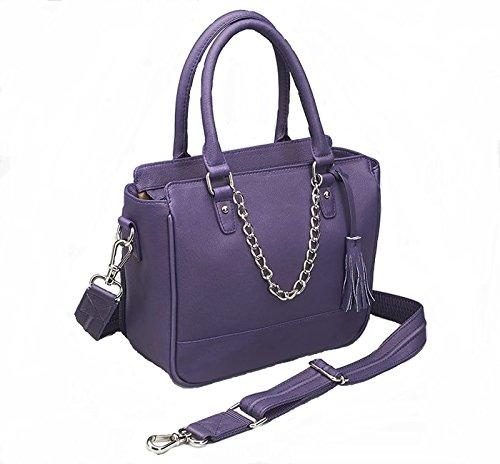 GTM Park Ave Conceal Carry Park Avenue Tote Purse- Purple