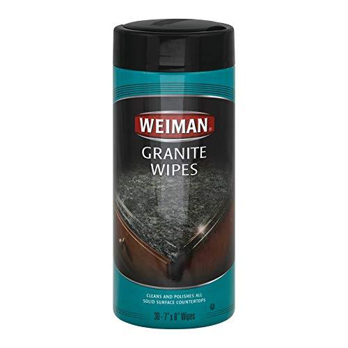 Weiman Granite Wipe - 30 per pack - 4 packs per case.