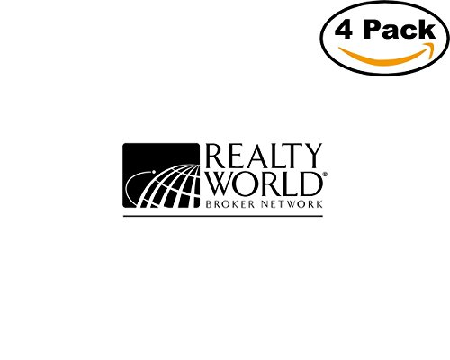 Realty World 4 Stickers 4X4 inches Car Bumper Window Sticker Decal