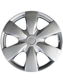 "Drive Accessories KT-1008-15S/L, Toyota Yaris, 15"" Silver Replica Wheel Cover, (Set of 4)"