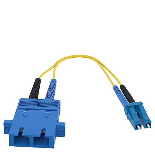 CableRack SC to LC Fiber Adapter 9/125 Singlemode Duplex Converter Dongle