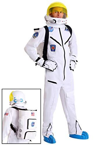 Adult White Astronaut Jumpsuit Costume - XL]()