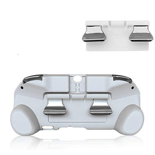 New Matte Non-Slip L3 R3 Hand Grip Handle Joypad Stand Case with L2 R2 Trigger Button Grips Holder for PSV 1000 PS VITA 1000 Game Console-White.