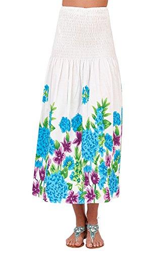 Estiva White Prendisole Donna Floreale Lungo Abito In Pistachio 2 Donna Da Cotone Gonna In Floral Blue 1 w6qTHSHfO