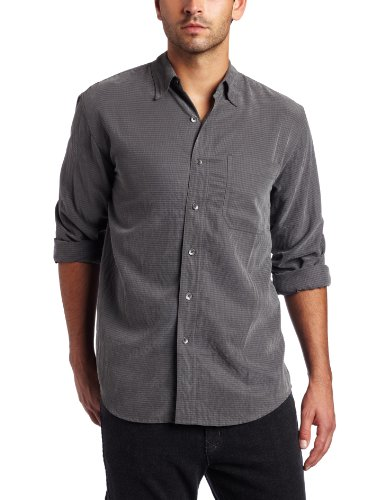 Royal Robbins Desert Pucker Long Sleeve Shirt,OBSIDIAN,Large (Shirt S/s Desert Pucker)