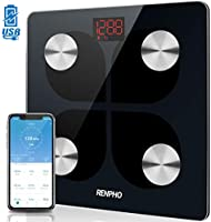 RENPHO Bilancia Bluetooth per Grasso Corporeo, Bilancia Digitale Intelligente IMC Bilancia Pesapersone Bagno, Ricarica...