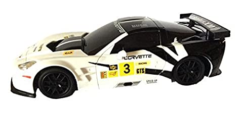 Braha Corvette C6.R 1:24 Licensed Friction Car (White) (C6 Corvette Toy)