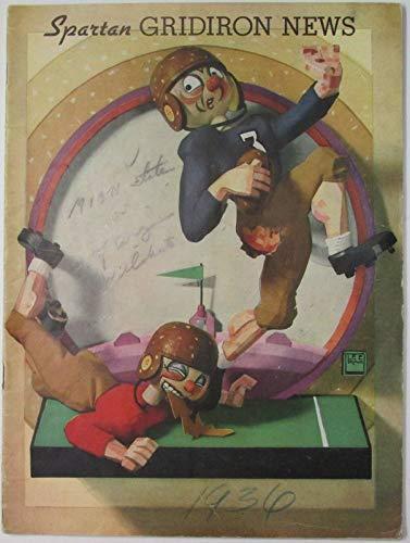 1936 Michigan State vs. University of Arizona Football Program 141636 (Arizona State Vs University Of Arizona Football)