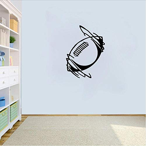 - Wall Stickers Murals 40.5Cm55Cm Wall Sticker Football Rugby Ball Sport Sitting Room The Bedroom PVC