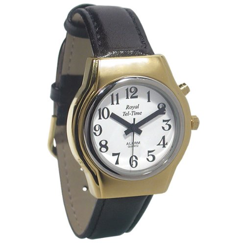 Mens Royal Tel-Time One Button Talking Watch with Leather Band by Royal Tel-Time