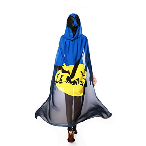 Dora Bridal Women's Hood Halloween Costume Cape Chiffon Bat Cosplay Dcoration Outfits Blue ()