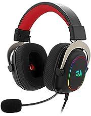 Headset Gamer Redragon Zeus X RGB 7.1 Virtual Preto e Vermelho P2 Com Microfone PC e Consoles PS4 / Xbox - H510-RGB