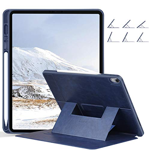 Ztotop Case for iPad Pro 12.9 Inch 2018(3rd Gen), Soft TPU Back Cover and Strong Magnetic Stand Folio Case [Support 2nd Gen Pencil Charging] with Auto Wake/Sleep and Multiple Viewing Angles,Navy Blue